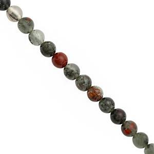 85cts African Bloodstone Smooth Round Approx 6mm, 30cm Strand