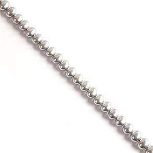Silver Shell Potato Pearls Approx 12x13x15mm, 38cm strand