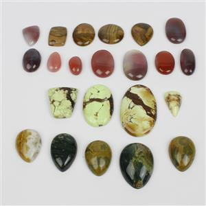 LAST OF STOCK - Natural Cabochon Bundle! Including, Jasper, Chrysoprase and Botswana Agate