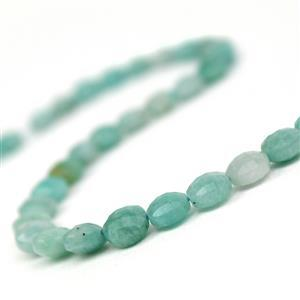 100cts Amazonite Faceted Puffy Coins Approx 8mm, 38cm