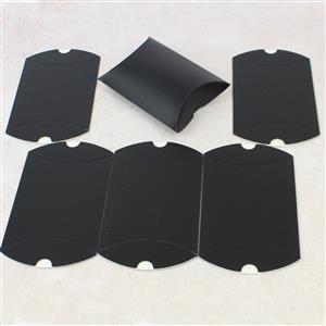 Black Printed Kraft Pillow Pack 9x8x3cm 6pk