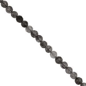 Black Rutile Quartz Gemstone Strands