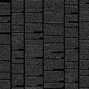 Quilters Basic Harmony in Black Text Fabric 0.5m