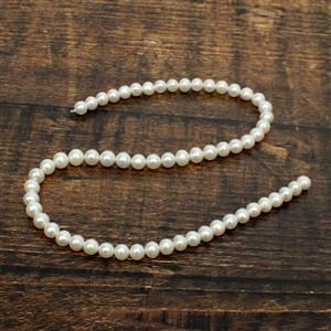 High Lustre White Freshwater Cultured Pearl Near Round Approx 6.5-7.5mm, 38cm Strand