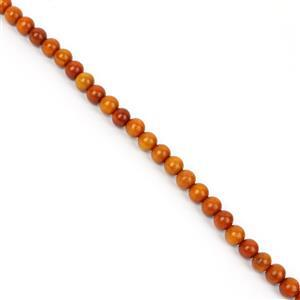 Red Wood Round Beads Approx 10mm
