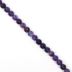 270cts Amethyst Matt Finish Frosted Rounds Approx 10 mm, 38cm Strand