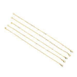Gold Plated Base Metal Charm Bracelet, Approx. 20cm (5pk)