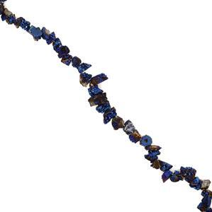300cts Navy Blue Colour Drusy Nuggets, Approx 9×10-15×20mm , 38cm strand