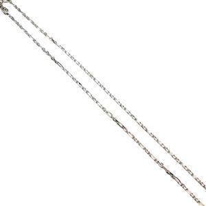 """925 Sterling Silver Diamond Cut Figure Belcher Chain, 51cm/20"""""""