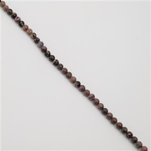 240cts Rhodonite Plain Rounds Approx 8mm, 38cm Strand