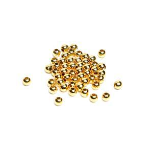 Gold Plated Base Metal Spacer Beads, 4mm (50pk)