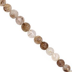 75cts Copper Rutile Faceted Round Approx 5.4mm to 6.6mm 30cm Strand
