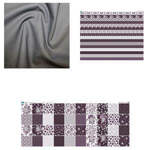 Inspiring Improv Copen Plumb Duo Cushion Bundle: Fabric (1m) & Fabric Panels (2 pcs)