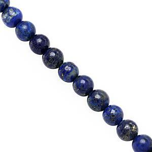 152cts Lapis Lazuli Smooth Round Approx 8 to 8.50mm, 28cm Strand