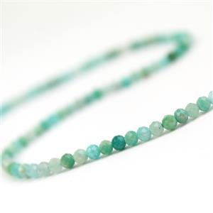 20cts Russian Amazonite Faceted Rounds Approx 3mm, 38cm Strand