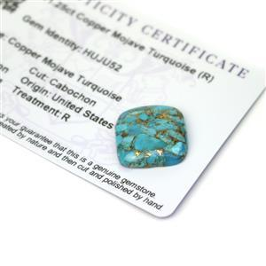 11.25cts Copper Mojave Turquoise 18x18mm Cushion  (R)