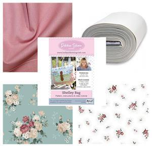 Debbie Shore's Roses Shelley Bag Kit: Instructions, Bosal & Fabric (1.5m)