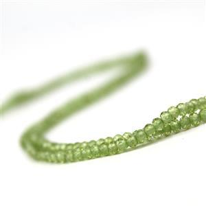Double Trouble! Peridot Faceted Rondelles Approx 3x2mm, 38cm Strand!