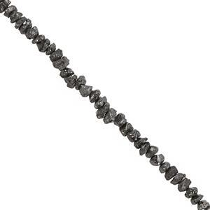 14cts Black Diamond Rough Nuggets Approx 2x1.5 to 4x3mm, 20cm Strand
