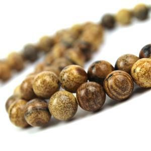 2 Strands! 225cts Picture Jasper Plain Rounds Approx 10mm 38cm