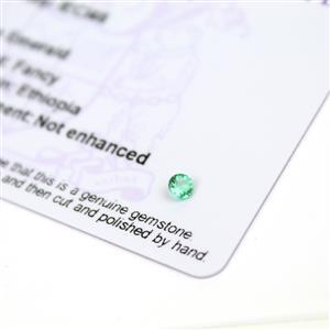 0.15cts Ethiopian Emerald 3.5x3.5mm Round  (N)