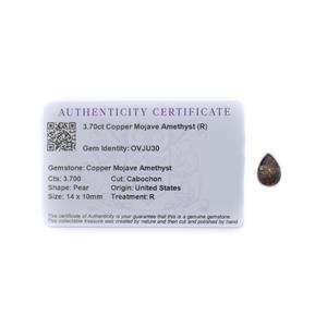 4cts Copper Mojave Amethyst 14x10mm Pear Pack of 2 (R)