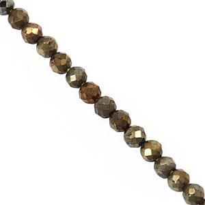 20cts Mystic Yellow Coated Spinel Micro Faceted Round Approx 3mm, 30cm Strand