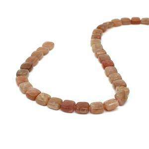 160cts Sunstone Faceted Squares Approx 10mm, 38cm Strand