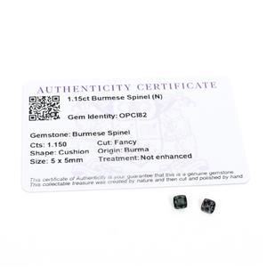 1.15cts Burmese Spinel 5x5mm Cushion Pack of 2 (N)