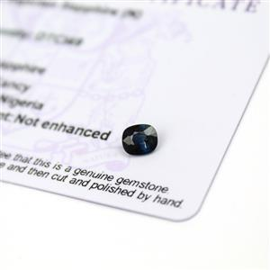 0.65cts Nigerian Sapphire 6x5mm Fancy  (N)