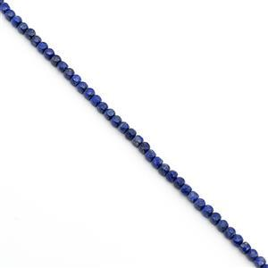110cts Natural Colour Lapis Lazuli Faceted Cubes Approx 6mm, 38cm Strand