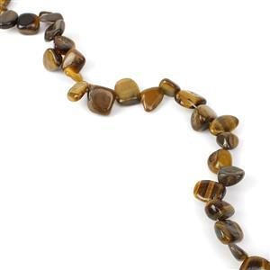 Yellow Tigers Eye Gmestone Strand