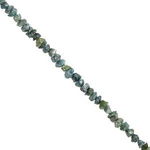 7cts Blue Diamond Rough Nuggets Approx 1.5x1 to 3.2x1.5mm, 15cm Strand