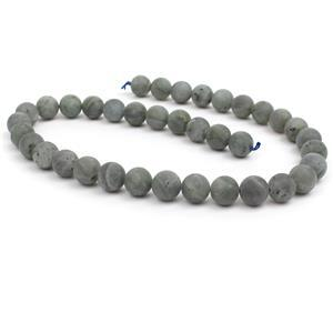 250cts Labradorite Matt Plain Rounds Approx 10mm, 38cm strand