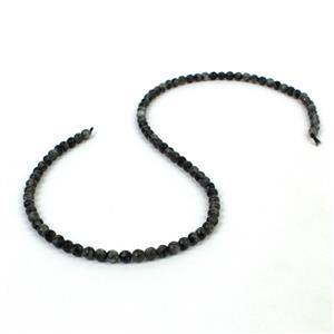40cts Larvikite Faceted Rounds Approx 4mm, 38cm Strand