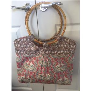 Tilda Plum Duck Nest Peach Reversible Shopper Bag Bundle: Fabric (2m) & Handle