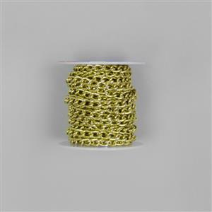5m Lime Aluminum Alloy Chain Aporox 8x5mm