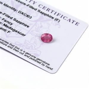1.3cts Ilakaka Pink Sapphire 8x6mm Oval  (F)