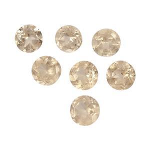 2cts Imperial Garnet 4x4mm Round Pack of 7 (N)