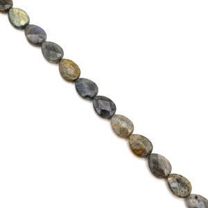 200cts Labradorite Faceted Pears Approx 16x12mm, 38cm Strand