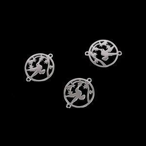 925 Sterling Silver Hummingbird in Spring Connectors Approx 16mm 3pk