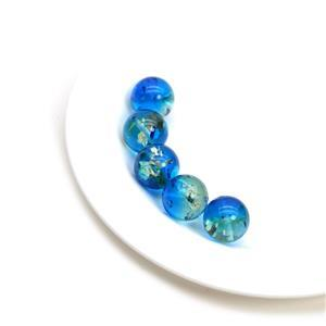 Baltic Ocean Blue Ombre Amber 12mm Rounds (5pc)