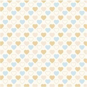 Quilters Basic Harmony in Sand and Blue Fabric 0.5m