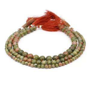 Unakite Round Bundle  Approx 8 to 8.50mm, 6 to 6.50mm &  4mm