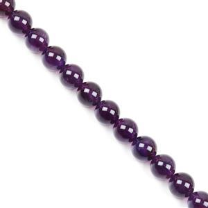 450cts Zambian Amethyst Plain Rounds Approx 14mm  38cm strand