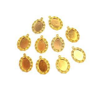 Gold Colour Oval Bezel Approx 29x22mm (10pcs/pk)