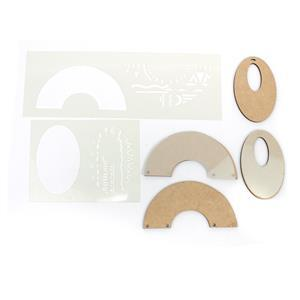 Designed by Gemma Crow African Templates with Oval & Semi-Circle Blanks