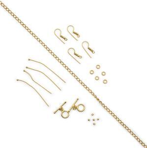 Gold Plated Base Metal Essential Findings Kit (LCAZ25)