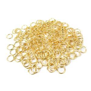 Gold Colour Plated Copper Open Jump Rings ID Approx 7mm. (LDAZ48)