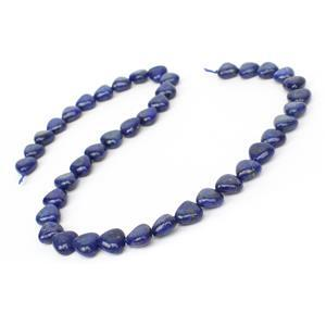 150cts Dyed Lapis Lazuli Puffy Hearts Approx 10mm, 38cm Strand